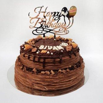 עוגת קרפים שוקולד